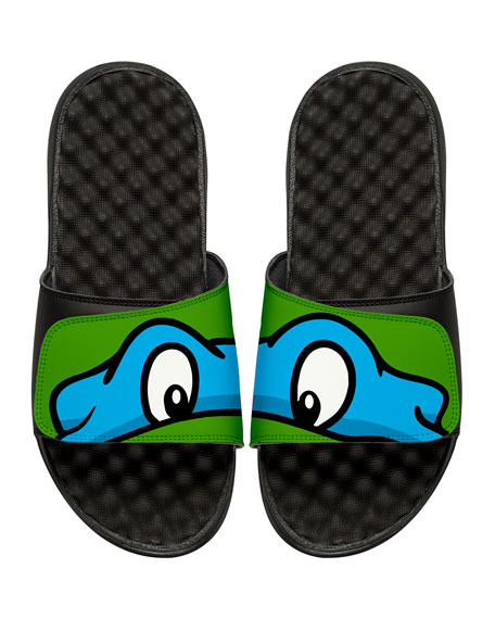 Men's Teenage Mutant Ninja Turtles Leonardo Slide Sandals, Black