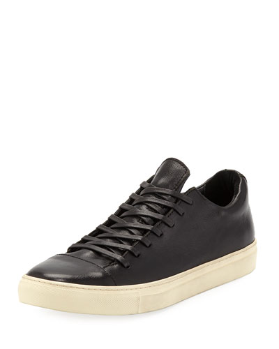 Men's 315 Reed Leather Low-Top Sneakers, Black