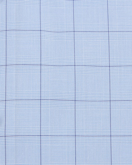 Windowpane Plaid Dress Shirt