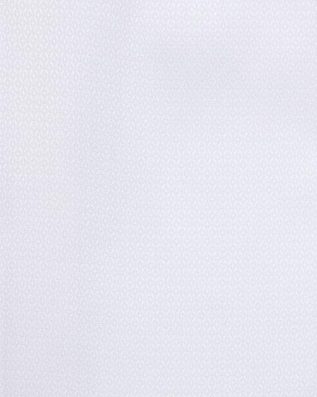 WHITE GROUND NAVY MICRO DOT