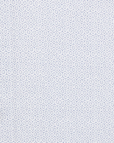 Octagon-Print Dress Shirt
