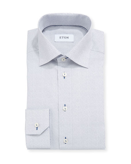 Octagon-Print Dress Shirt