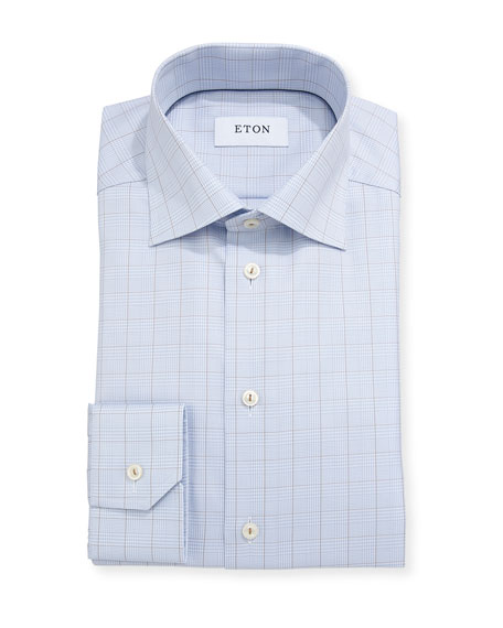 Eton Glen Plaid Windowpane Dress Shirt