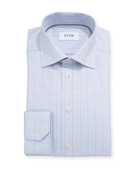Glen Plaid Windowpane Dress Shirt