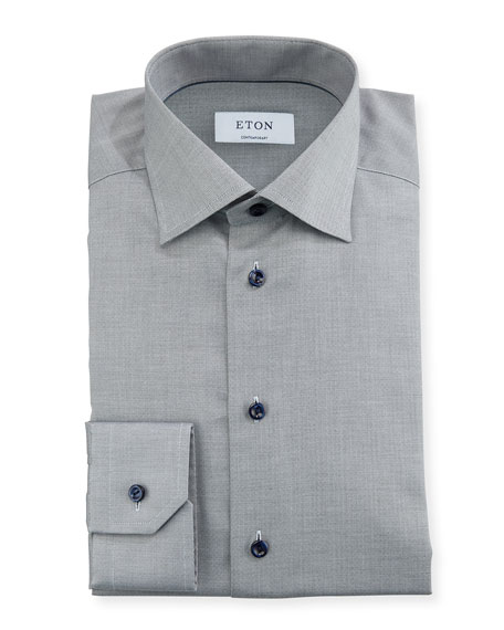 Eton Textured-Weave Dress Shirt