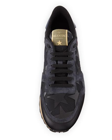 Men's Rockrunner Camustars Leather Trainer Sneaker