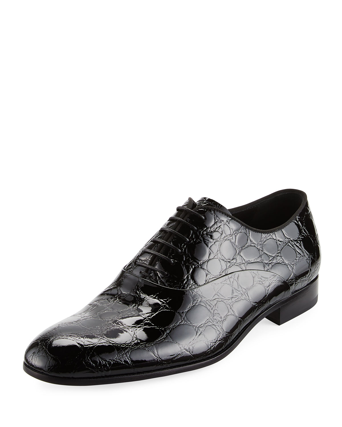 quality design 44503 592b8 Vernice Embossed Patent Leather Oxford, Black