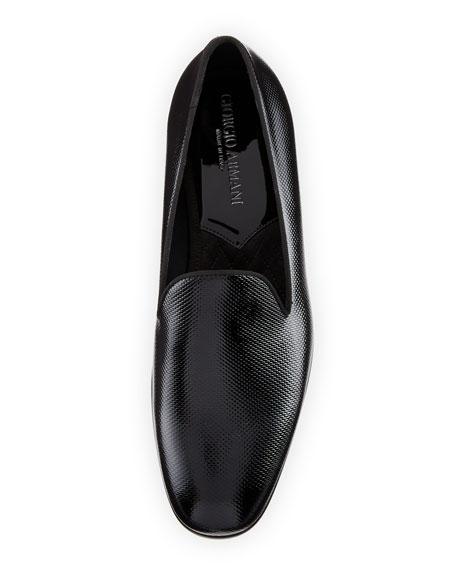 Vernice Textured Leather Loafer, Black