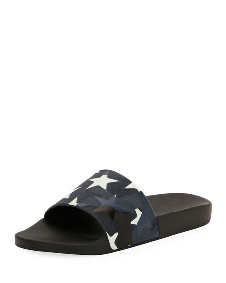 Men's Camustars Rubber Slide Sandal, Blue/White