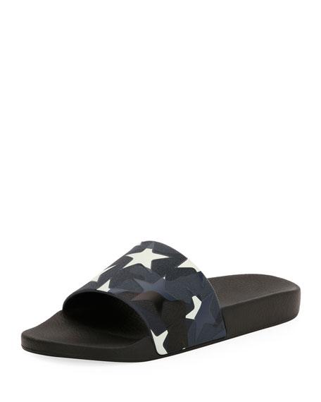 Men's Camustars Rubber Slide Sandal, Blue/White