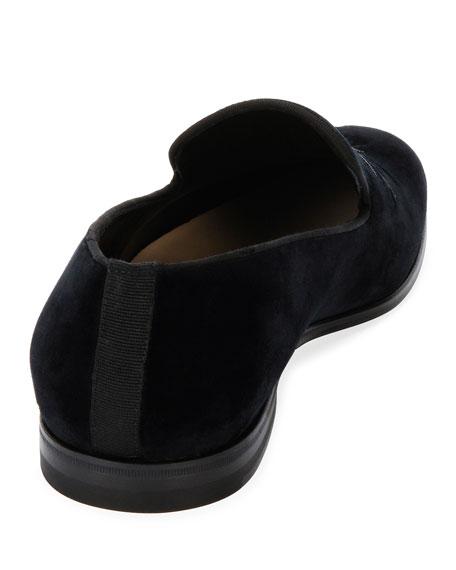 Beaded Thistle & Rose Velvet Formal Slipper, Black