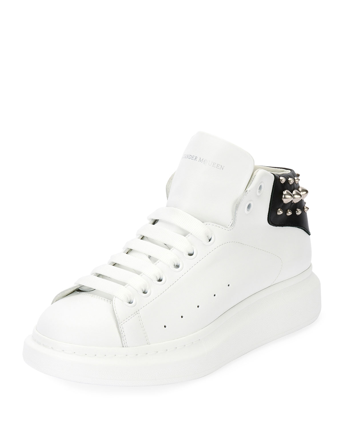 4ec45c5cfcdf2 Alexander McQueen Men s Studded Leather High-Top Sneakers