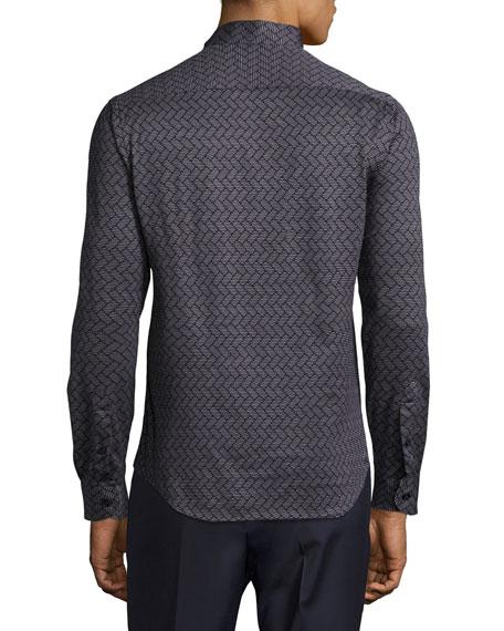 Large-Chevron Cotton Shirt