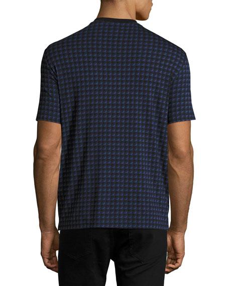 Triangle-Box V-Neck T-Shirt, Multicolor/Blue