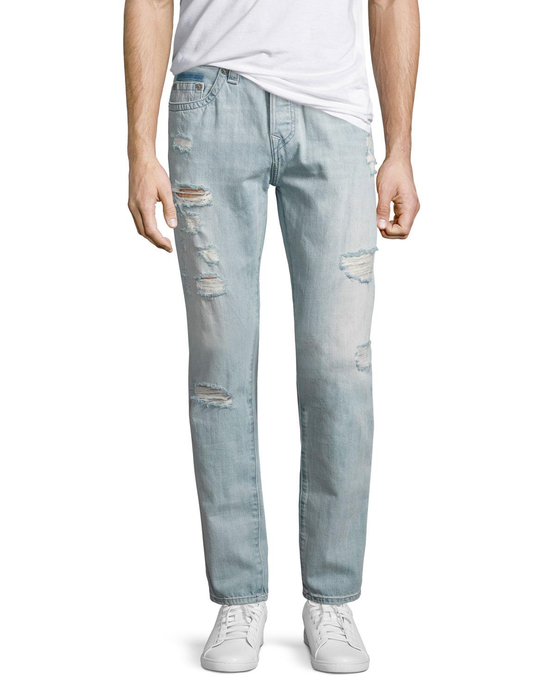 631fb891705 True Religion Dean Distressed Slim-Straight Jeans