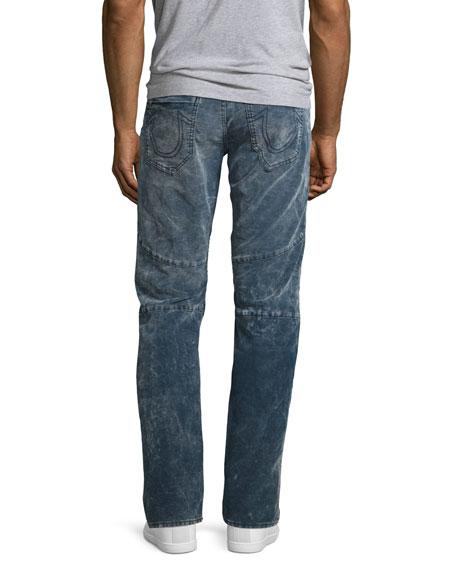 Geno Moto Straight-Leg Jeans, Azur Reef (Blue)