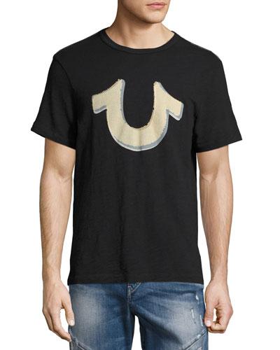 Pop Art Horseshoe Logo T-Shirt, Black