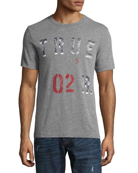 Logo-Print T-Shirt, Gray