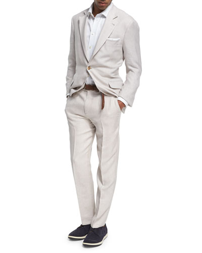 Wool-Silk-Linen Deconstructed Suit