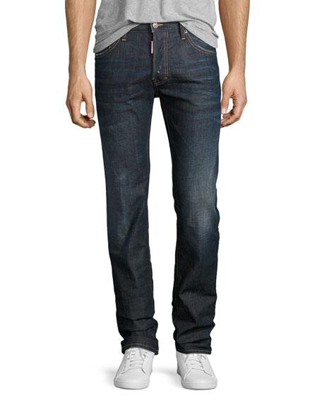 Dean Straight-Leg Jeans, Dark Movement (Navy)