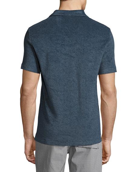Willem Terry Polo Shirt, Marine
