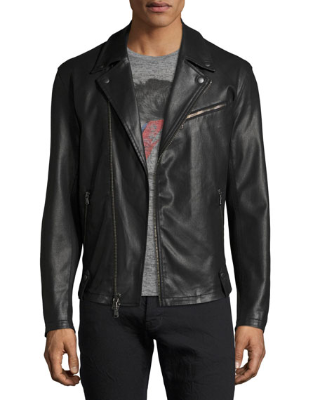 John Varvatos Star USA Coated Slim Moto Jacket,