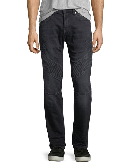 Neil Barrett Military Straight-Leg Moto Jeans
