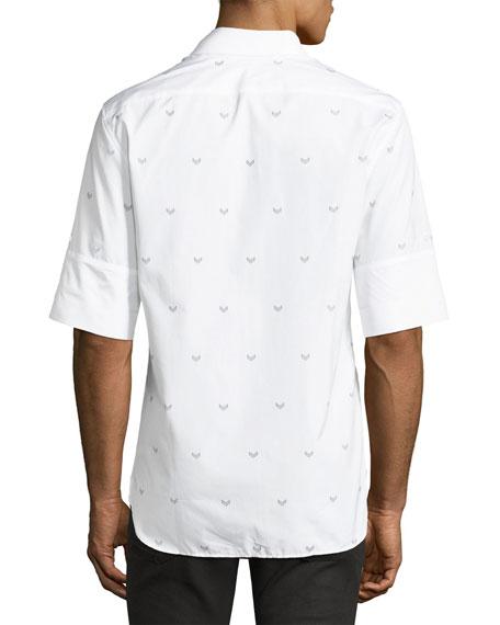 Military Arrow Short-Sleeve Cotton Shirt