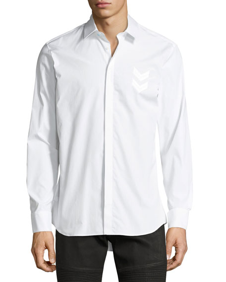 Neil Barrett Military Arrow Cotton Shirt