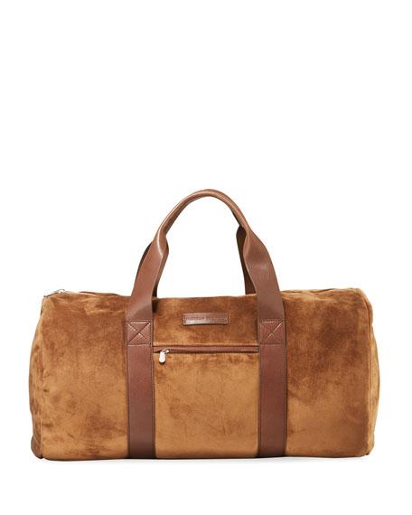 Brunello Cucinelli Calfskin Suede Duffel Bag