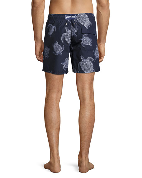 Moorea Sharkskin Turtle Swim Trunks