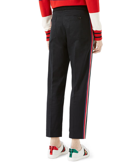 Cotton Jogging Pants with Sylvie Web, Black