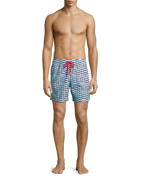 Moorea Repeating Fish Swim Trunks