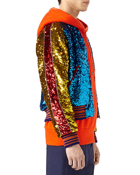Sequined Bomber Jacket