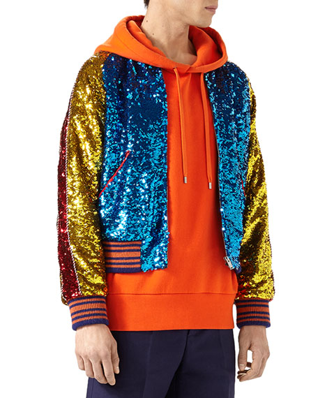 Gucci Sequined Bomber Jacket