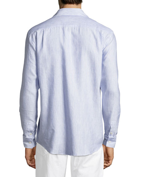 Striped Linen-Cotton Shirt