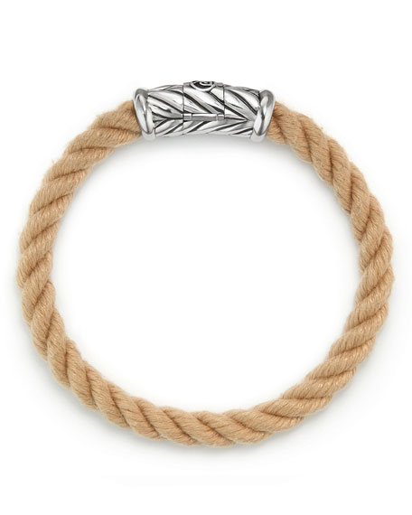 Men's 8mm Maritime Rope Bracelet with Sterling Silver