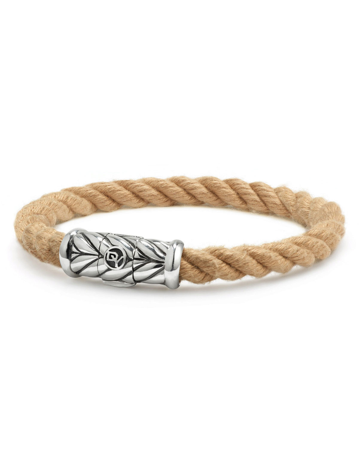 Men S 8mm Maritime Rope Bracelet With Sterling Silver
