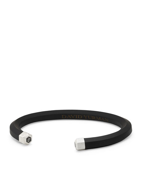 David Yurman Men's Rubber & Sterling Silver Hex