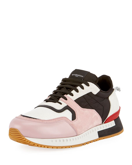 Givenchy Active Textile & Suede Running Sneaker