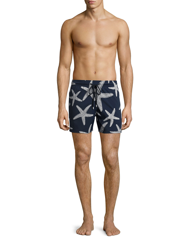 f85aa32716ecf Vilebrequin Moorise Starlette Glow-in-the-Dark Superflex Swim Trunks    Neiman Marcus