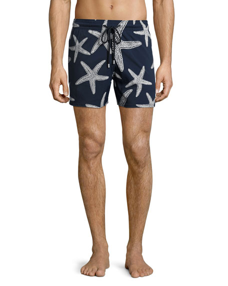 Vilebrequin Moorise Starlette Glow-in-the-Dark Superflex Swim Trunks
