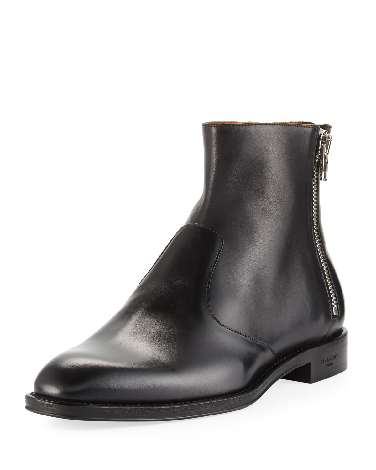 Givenchy Leather 3-Zip Ankle Boot  d65d556b3d58