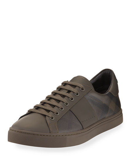 Ritson PVC Check & Leather Low-Top Sneaker