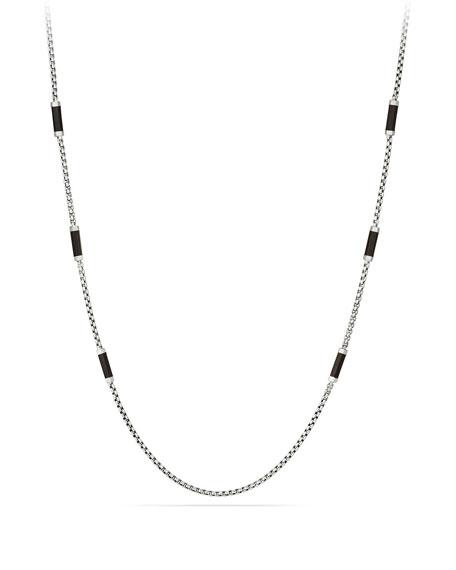 David Yurman Men's Hex Chain Station Necklace
