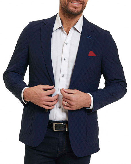 Robert Graham Agora Hills Deconstructed Sport Coat, Navy