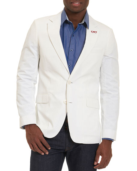 Robert Graham Castroville Seersucker Sport Coat, White