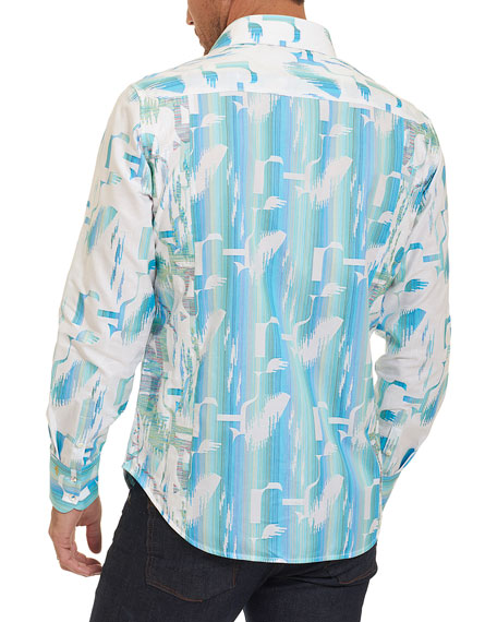Limited Edition Pier View Embroidered Shirt, Bright Blue