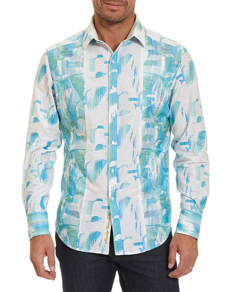 Robert Graham Limited Edition Pier View Embroidered Shirt,