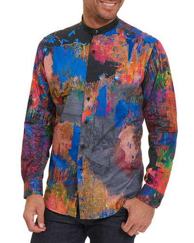 Limited Edition Zucker Embroidered Shirt, Multicolor